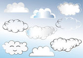 Clouds set — Stock Vector