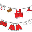 Cute clothes hanging — Stock Vector