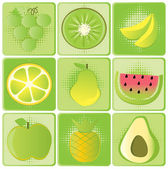 Fruits icons — Stock Vector