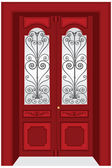 Vintage Door — Stock Vector