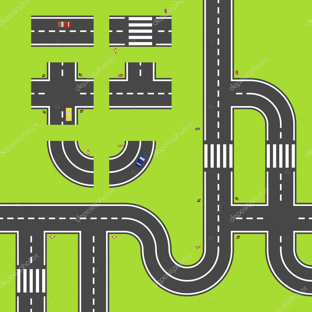 Road Plan Stock Vector Nojman 8562112