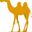 Walking Camel — Stock Vector