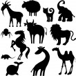 Animals silhouettes — Stock Vector #8620945