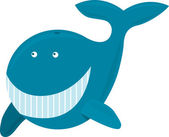 Funny Whale - Vector — Stock Vector