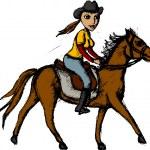 Horse rider — Stock Vector