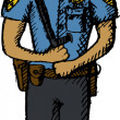 Policeman — Vector de stock #8684187