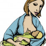 Breastfeeding — Stock Vector #8684199