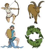 Zodiac Signs - 3rd period — Stock Vector