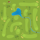 Golf course — Stockvector