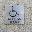 Access ramp sign — Stock Photo