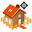 Stock Vector: House for sale