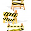 Under construction barrier — Stock Vector