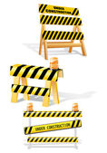 Under construction barrier — Stock Vector