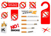 No Smoking signs — Stock Vector