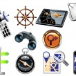 GPS and Navigation Icons — Stock Vector