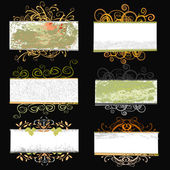 Floral frame set — Stock Vector