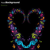 Colorful music background — Stock Vector