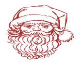 Santa Claus face — Foto Stock