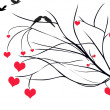 Hearts on Tree Branch — Stock Photo #8980438
