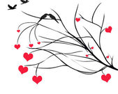 Hearts on Tree Branch — Stock Photo