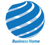 Business logo design 3D — Stock Photo