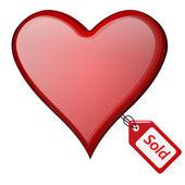 Πωλούνται καρδιά — Διανυσματικό Αρχείο