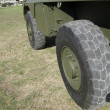 Stock Photo: Massive army truck wheel
