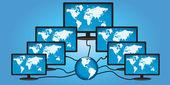 全球网络概念 — 图库矢量图片