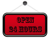 Open 24 hours banner — Stock Vector