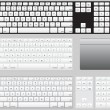 Stock Vector: Vector Computer Keyboards and track pad