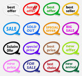 Sale tags — Stock Vector