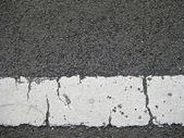 White line on asphalt — Stock Photo