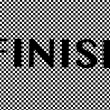 Finish text — Stock Photo