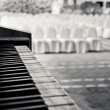 Piano in wedding venue — Stock Photo #8486463