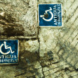 Disable signs — Stockfoto