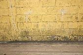 Yellow brick with walkway — Stock Photo