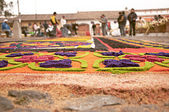 Semana Santa carpet (alfombra) — Stock Photo