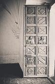 Ruined church door — Stock Photo