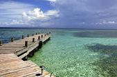 Empty dock in Caribbean — Stock Photo