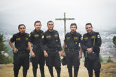 Group of foreign policemen — Stock Photo
