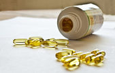 Capsules of omega-3 — Stock Photo