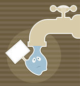 Save water — Stock Vector