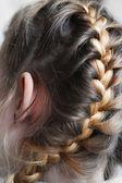 Hairstyle girl — Stock Photo
