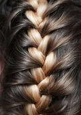 Girlish braid — Stock Photo