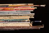 Pile of thin books — Stock Photo
