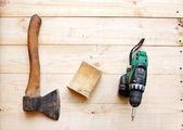 O machado e a chave de fenda — Foto Stock