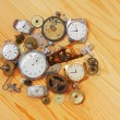 Stock Photo: Mechanical clocks and the details