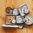 Foto de Stock  : Pile of clocks