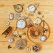 Broken mechanical clocks — Stock fotografie