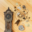 Stock Photo: Details of clocks